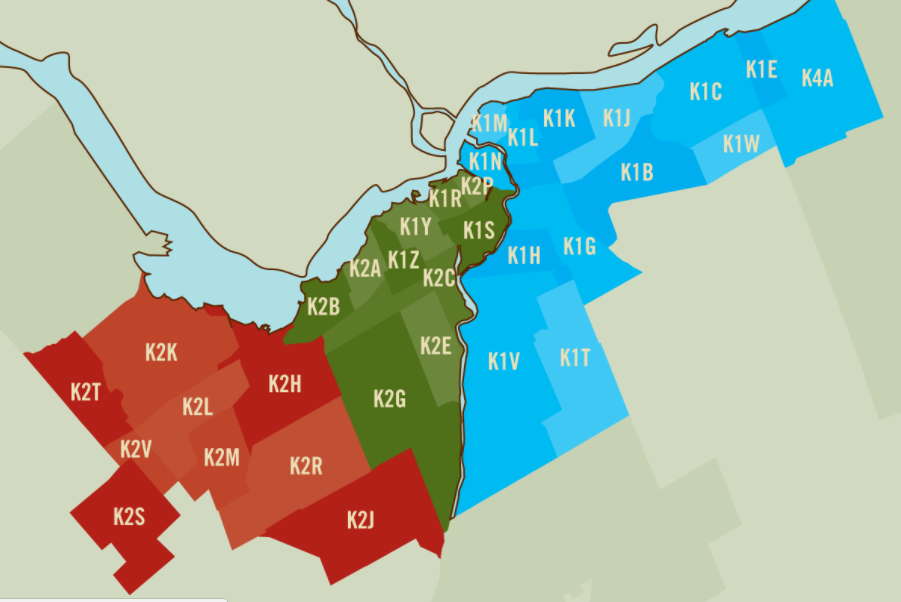ontario canada postal code map